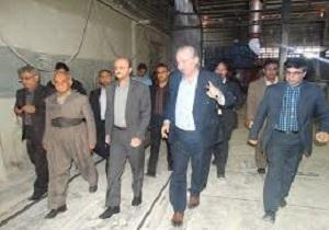 بازدید معاون رئیس جمهوری از کارخانه کاشی کسری دهگلان