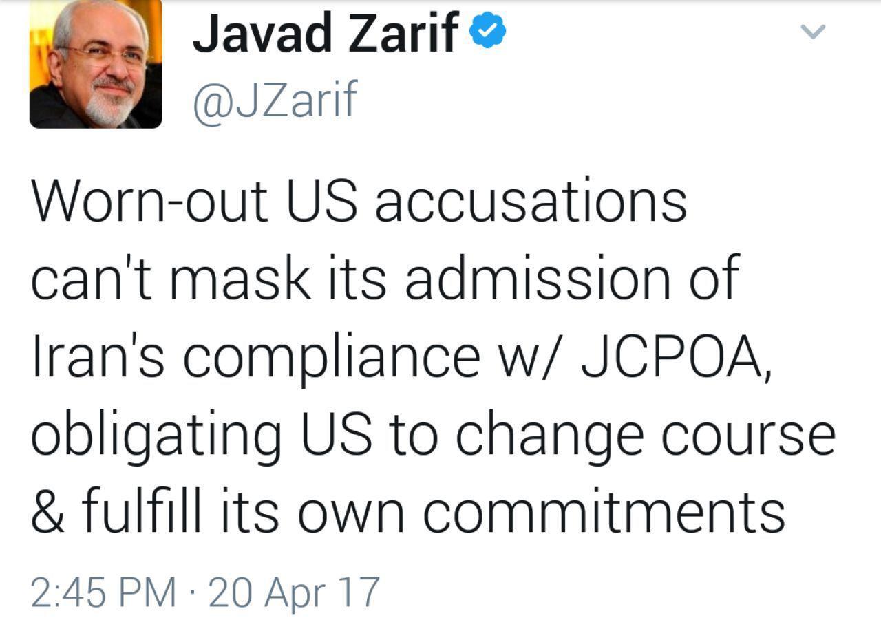 آمریکا موظف است که به تعهدات خود در برجام عمل کند