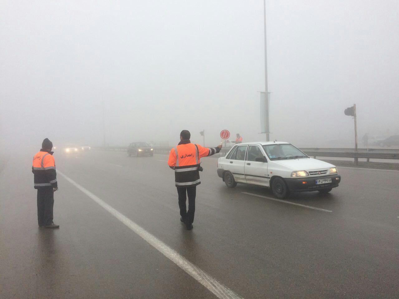 ممنوعیت تردد در آزادراه مشهد-باغچه به دلیل مه غلیظ