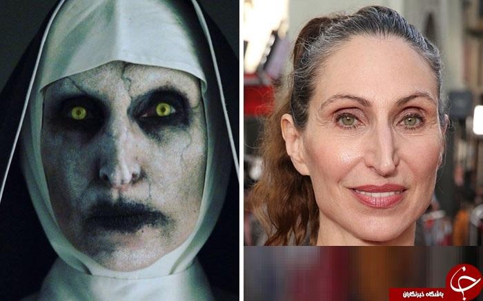 چهره دیده نشده بازیگران فیلم های ترسناک در سینما +تصاویر