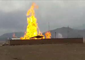 2 تن به علت انفجار ایستگاه تقلیل فشار گاز همدان در آتش سوختند
