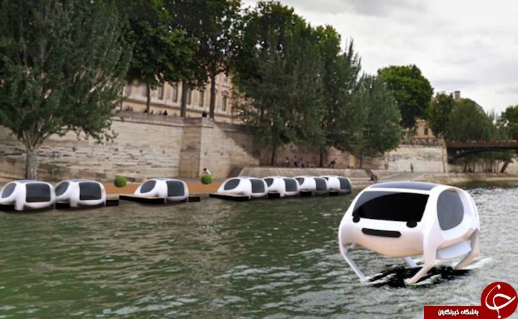 تاکسی هایی که روی آب حرکت می کنند!+تصاویر