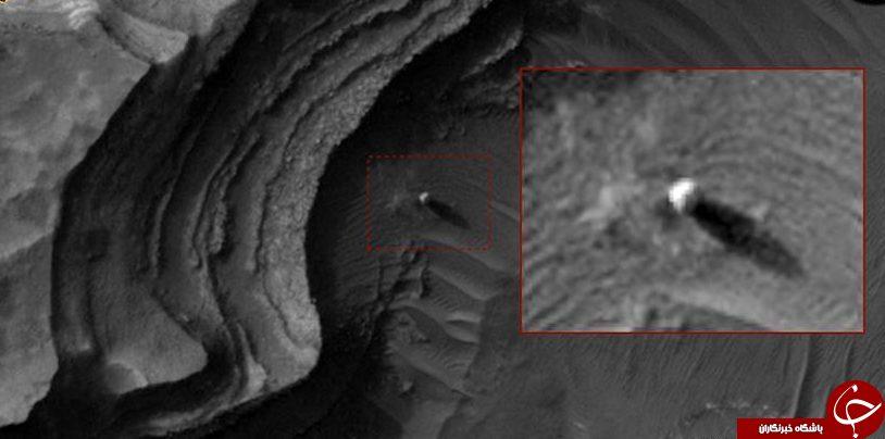 تصاویر ماهواره ناسا از یک شی عجیب کروی رنگ سفید در مریخ