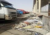باشگاه خبرنگاران -گلایه رانندگان از وضعیت پایانه مرزی ایران - عراق + تصاویر