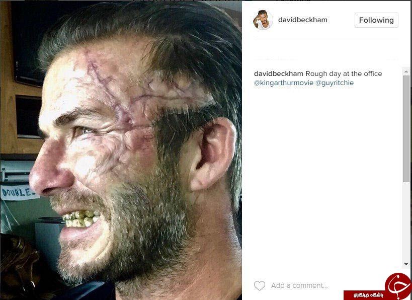 گریم جدید دیوید بکهام در سریال شاه آرتور + عکس