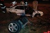 باشگاه خبرنگاران - واژگونی خودرو سمند