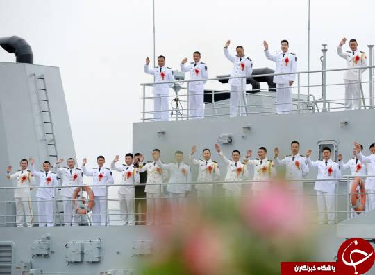 جشن عروسی گروهی ملوانان چینی+تصاویر