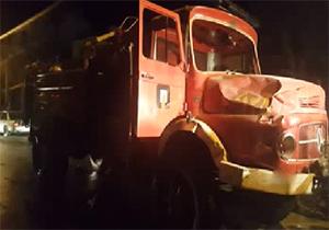 آشوب اغتشاشگران در دورود با ماشین آتش نشانی + فیلم
