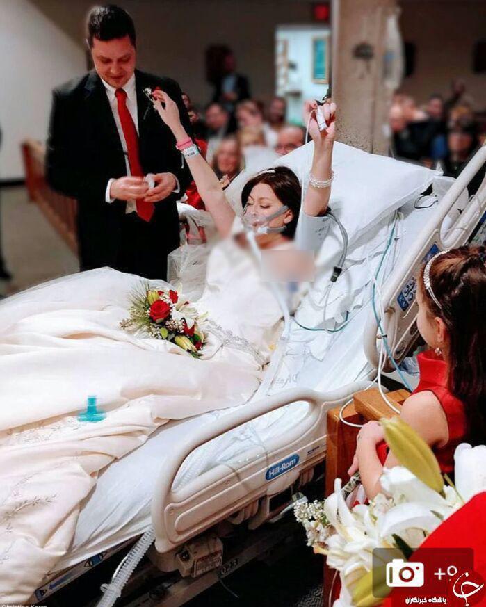 دختر سرطانی در بیمارستان به آخرین آرزوی زندگی اش رسید +تصاویر