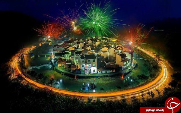 تصویری زیبا از جشن سال نو در چین