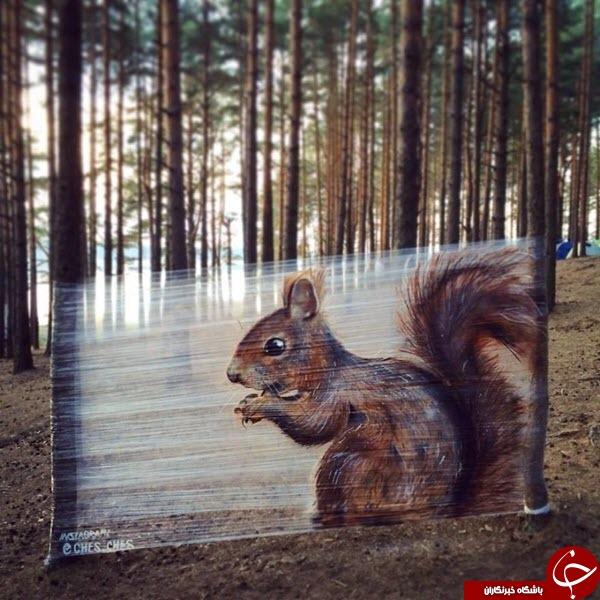 خلق نقاشیهای سه بعدی شگفتانگیز با اسپری+تصاویر