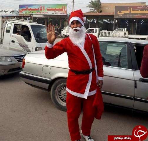 بابانوئل از استان الانبار عراق سر در آورد+تصاویر