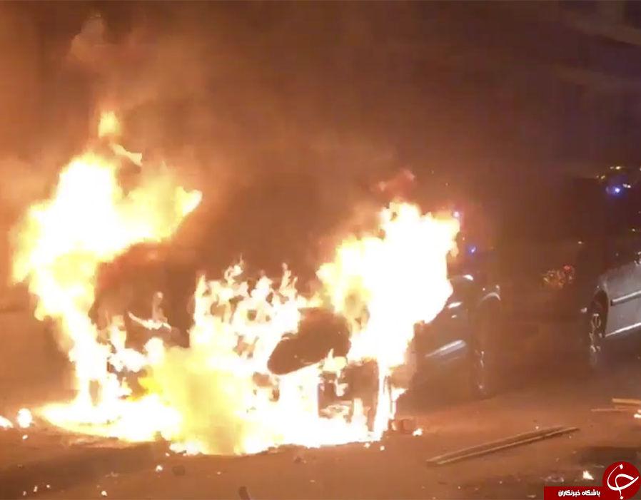 به آتش کشیدن 1000 خودرو و افزایش ناآرامی ها در پاریس + تصاویر////////