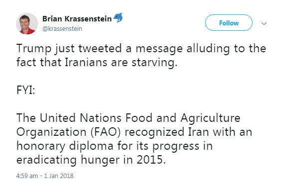 واکنش یک آمریکایی به توهین ترامپ به ایرانیان