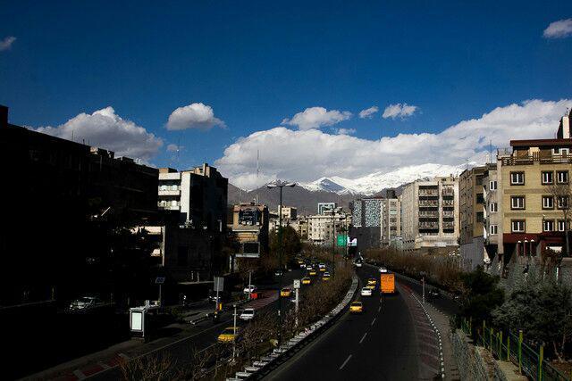 باد و باران به داد پایتخت رسید/ هوای تهران سالم شد