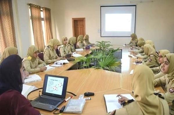 گزارش تصویری از نخستین دانشکده نظامی زنان در پاکستان