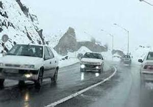 کولاک و یخ زدگی در جاده های استان های اردبیل و گلستان