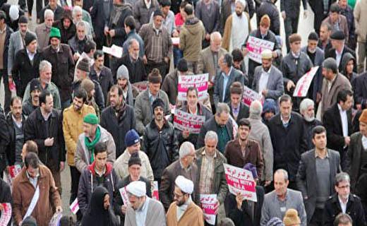 امروز مردم سراسر کشور علیه آشوبگران یک صدا شدند+تصاویر