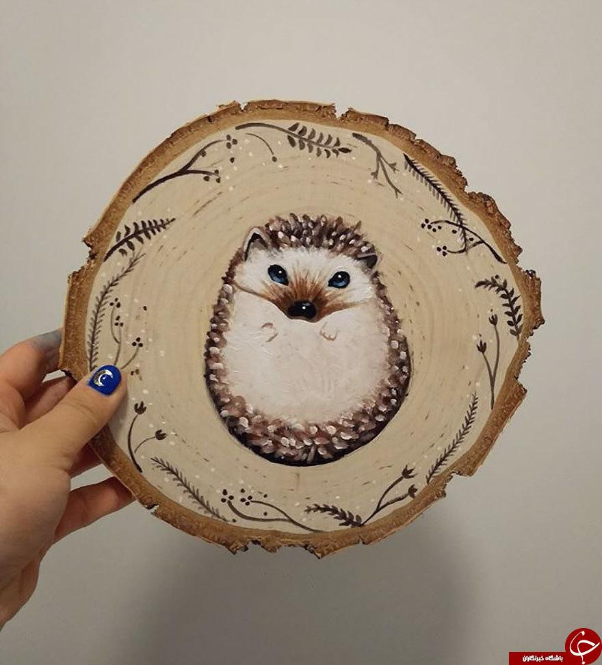 هنرنمایی بی نظیر یک هنرمند روی چوب