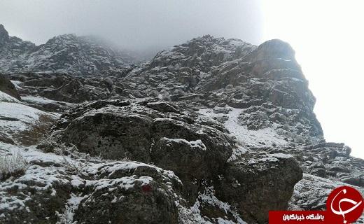 نمایی زیبا از اولین برف زمستانی در «سراستان» + تصاویر
