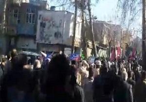 حضور پرشور مردم هرسین در محکومیت آشوبگران + فیلم