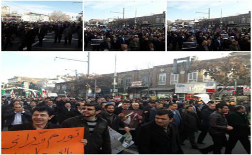 قیام مردم ایران در محکومیت آشوبگران ادامه دارد+تصاویر