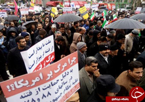 پاسخ قاطع ملت ایران به آشوبگران/ ملت بیدارند+ فیلم و تصاویر