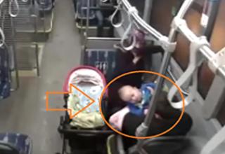 راننده تُرک نوزاد در حال خفه شدن را از مرگ نجات داد+فیلم