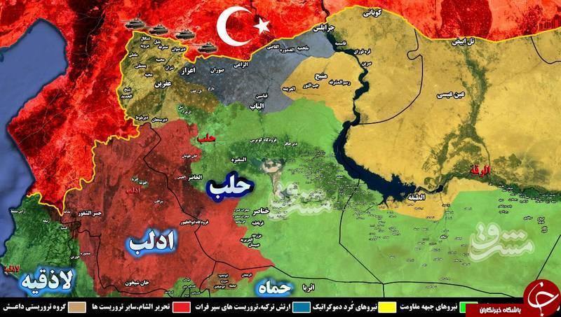 جدیدترین اطلاعات از تحولات میدانی سوریه+ نقشه میدانی