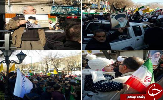 تصاویری از حضور مداوم مردم در استان های کشور در محکومیت اغتشاش های اخیر
