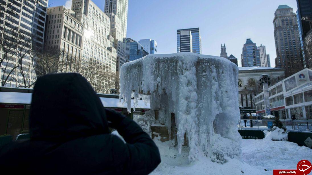 آمریکا بی سابقه ترین سرمای طول تاریخ خود را تجربه می کند + تصاویر