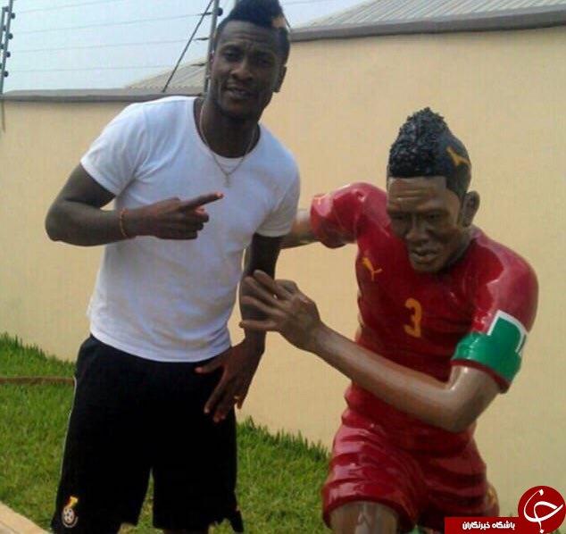 مجسمه فوتبالیست مشهور ساخته شد+عکس