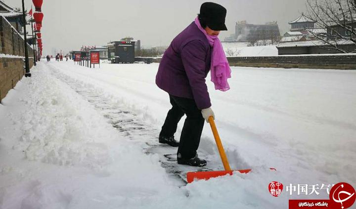 تصاویر دیدنی زمستان برفی چین
