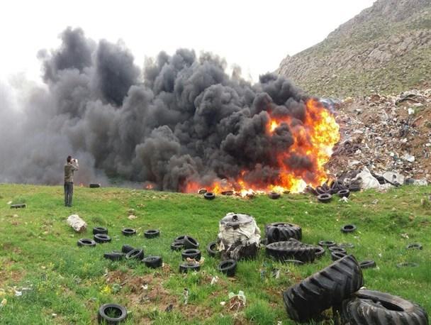 سوزاندن زباله در فضای باز جرم است