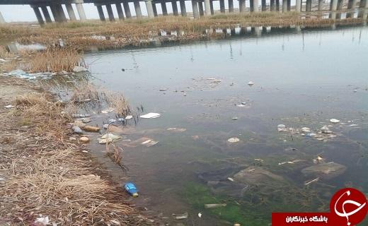 تصاویری از انباشت زباله در حاشیه زرینهرود