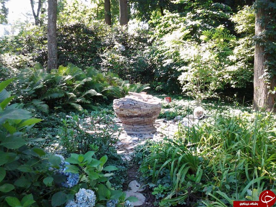 خلاقیت یک هنرمند در ساخت مجسمه های سنگی بدون سیمان یا چسب