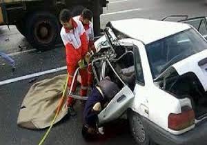 مجروح شدن سرنشینان پراید در سانحه رانندگی درملایر