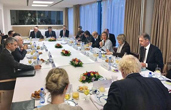 باشگاه خبرنگاران -نشست برجامی ظریف با وزرای خارجه سه کشور اروپایی در بروکسل / حمایت موگرینی و تروئیکای اروپایی از توافق هستهای ایران