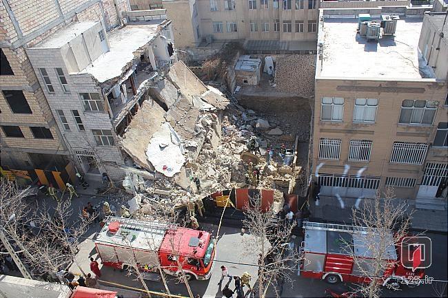 ریزش ساختمان در مهرآباد جنوبی/حادثه تلفاتی نداشت