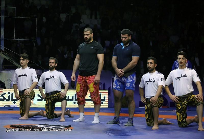 رفتار پهلوانانه احمد میرزاپور در مسابقات کشتی پهلوانی