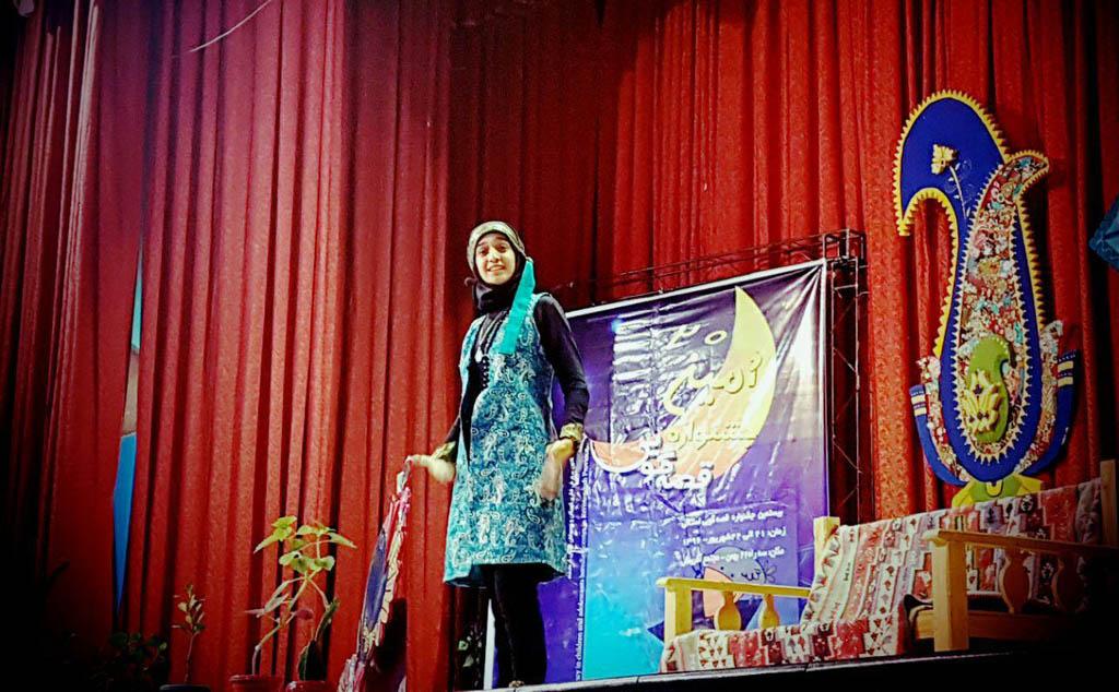 نقل «بیژن و منیژه» از سوی نوجوان کرمانشاهی در جشنوارهی قصهگویی