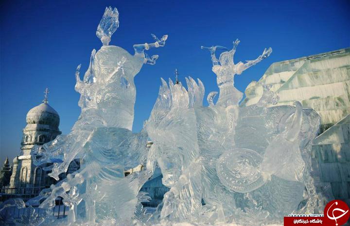 تصاویری دیدنی از مشهورترین فستیوال یخی جهان