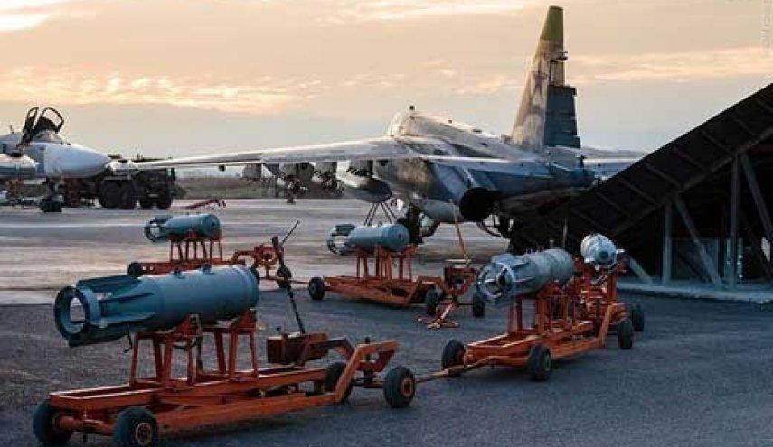 انهدام انبار پهپادهای تروریستها در سوریه به وسیله روسیه