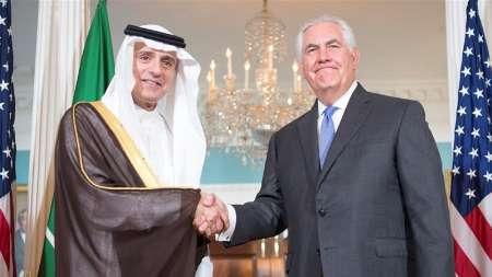 تیلرسون: مذاکرات مهمی با وزیر خارجه عربستان درباره مسائل منطقه داشتیم