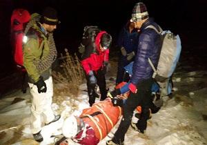 نجات کوهنورد همدانی ازارتفاعات همدان