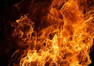 آتش به جان مینی بوس افتاد
