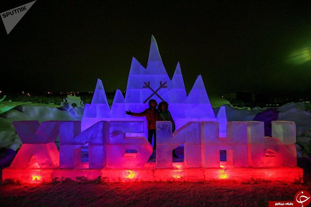 برپایی شهر برفی در شمالی ترین نقطه روسیه+تصاویر