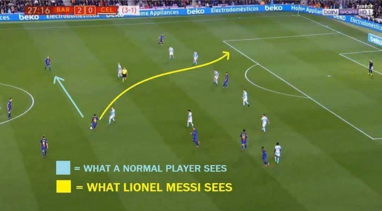 تفاوت نگاه لیونل مسی با یک فوتبالیست عادی +عکس