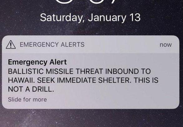 ارتش آمریکا خطر حمله موشکی به جزایر هاوایی را رد کرد