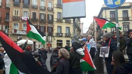 تجمع ضد صهیونیستی در رم